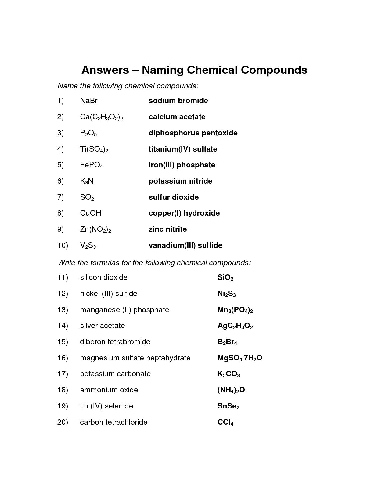 16 Best Images Of Nomenclature Worksheet 2 Answer Key