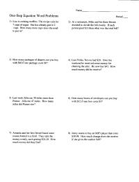 13 Best Images of 2 Step Word Problems Worksheet - Two ...