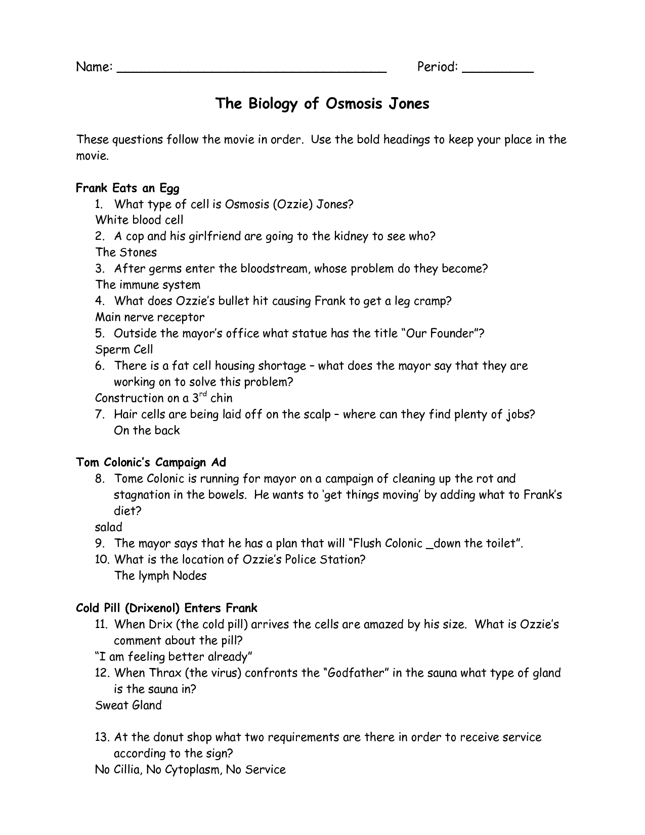 Osmosis And Tonicity Worksheet Answers