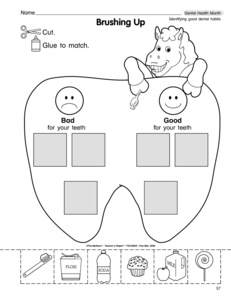 12 Best Images of Dental Worksheets For Preschool
