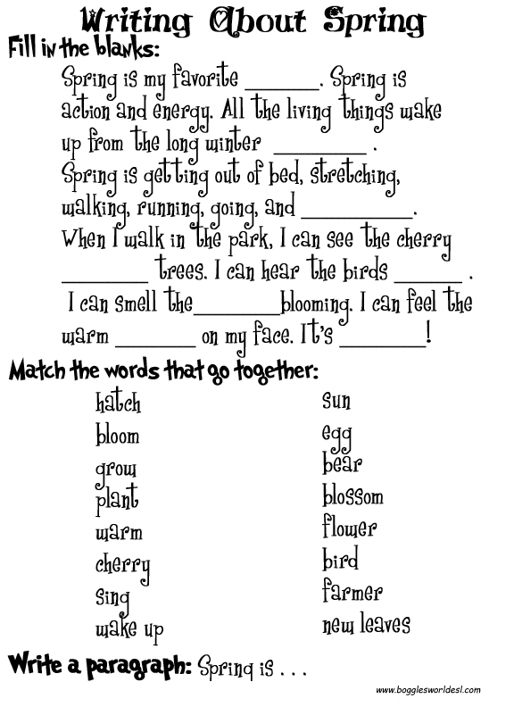 13 Best Images Of Answer The Blank Worksheets