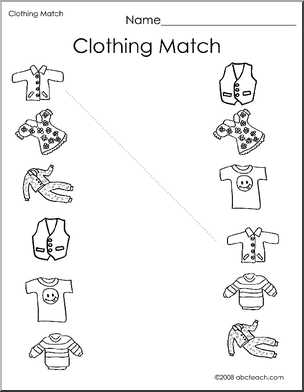 12 Best Images of Clothing Worksheets Math Printables