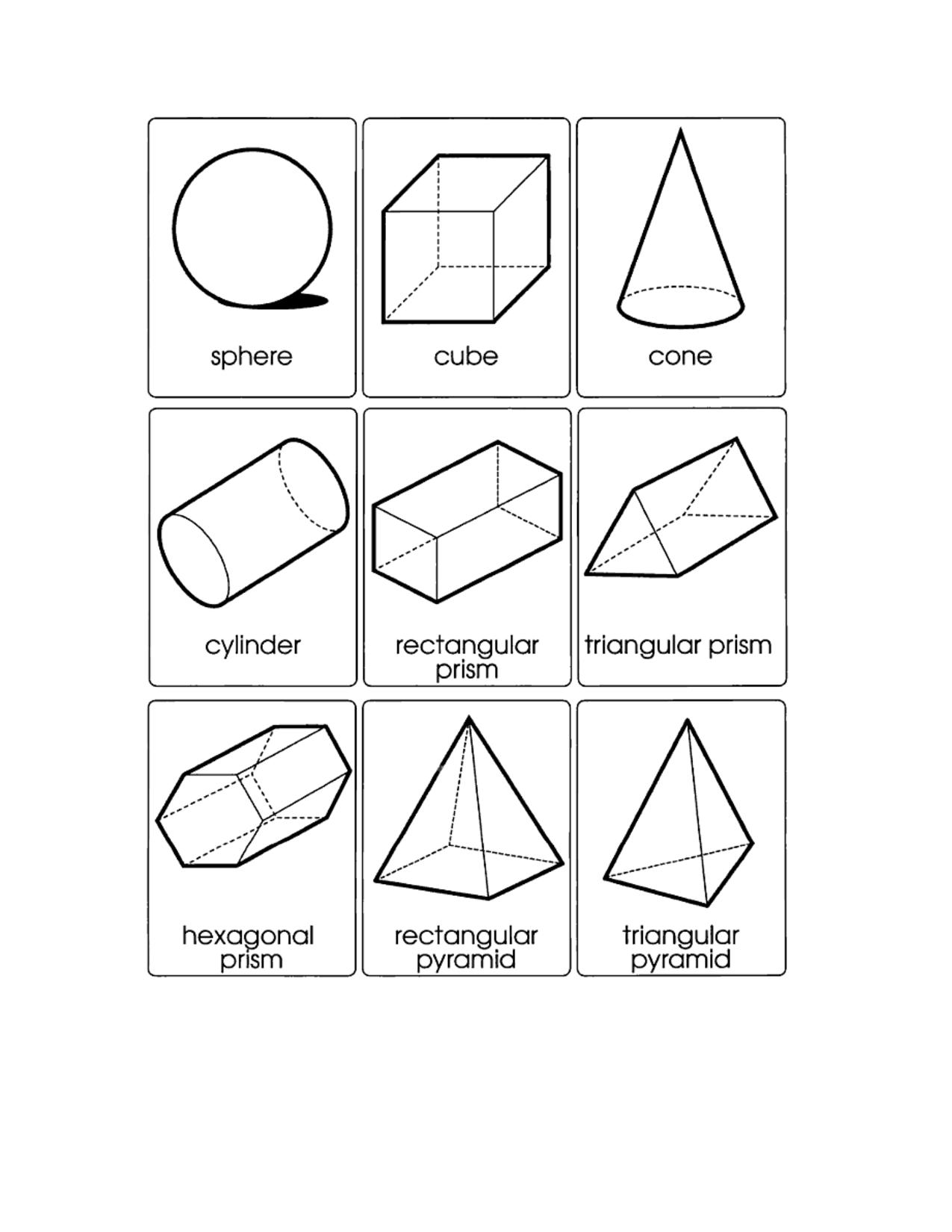 Cube And Sphere Worksheet Kindergarten