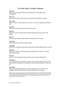 16 Best Images of 12 Step Worksheets Printable - Narcotics ...