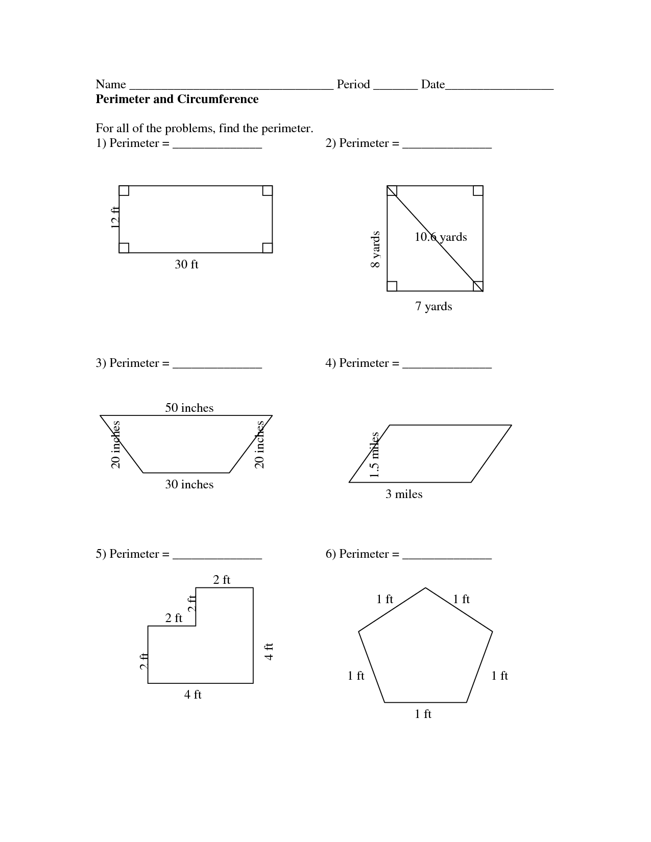 10 Best Images Of Calculating Area And Perimeter Worksheets