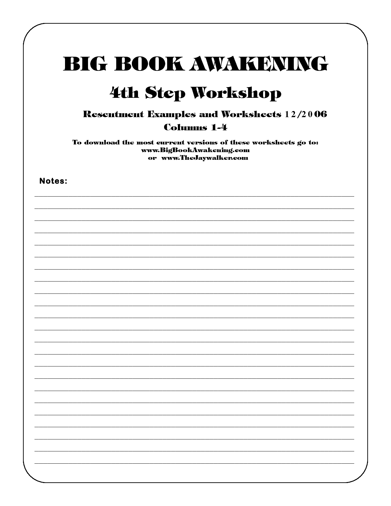 16 Best Images Of 12 Step Worksheets Printable