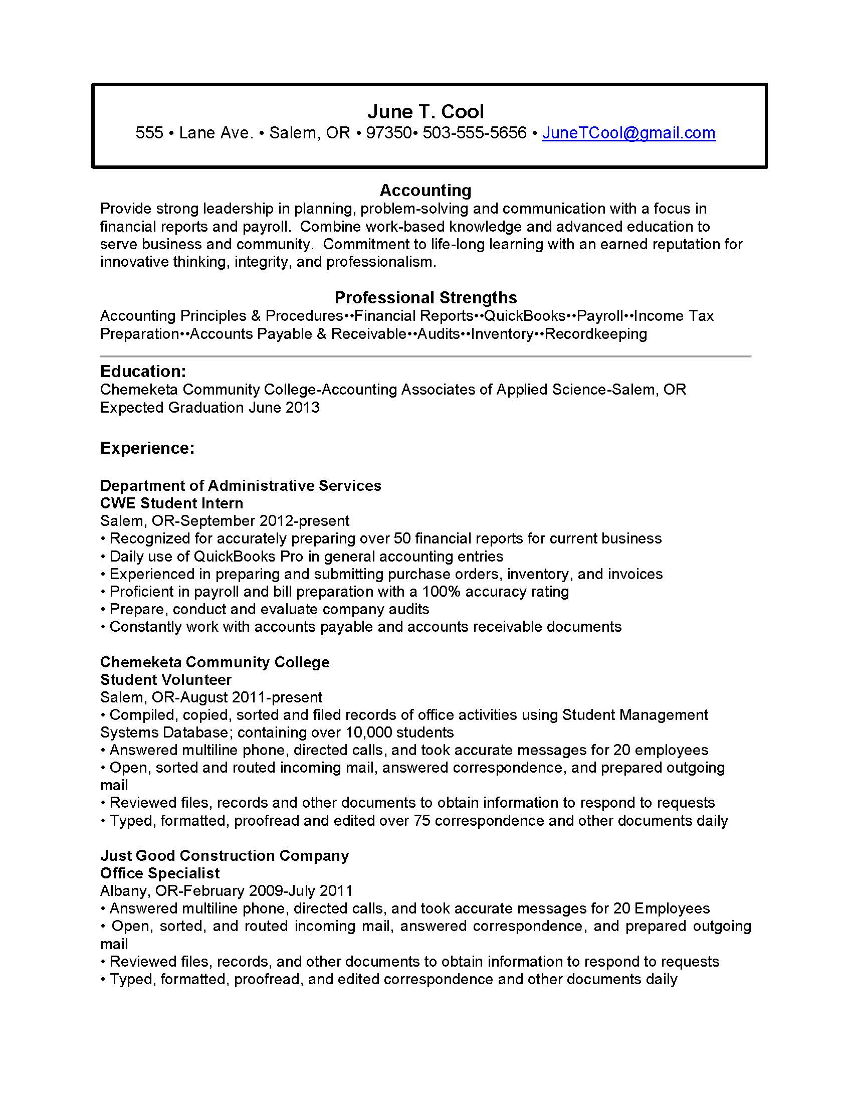5 Best Images Of Functional Resume Worksheet