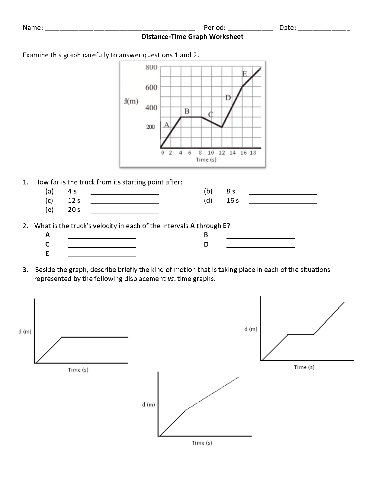 Cozy Gcse Physics P2 Distance Time Graphs D T Graphs By
