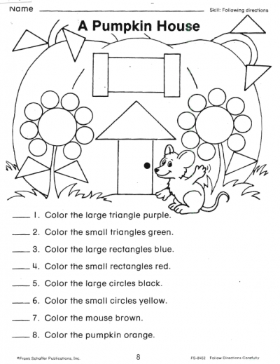 16 Best Images of Free Following Directions Worksheets