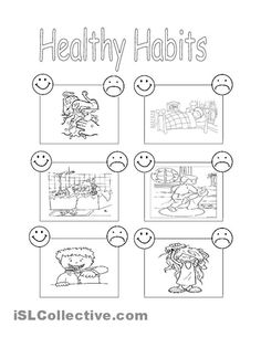 12 Best Images of Healthy Lifestyle Habits Worksheets