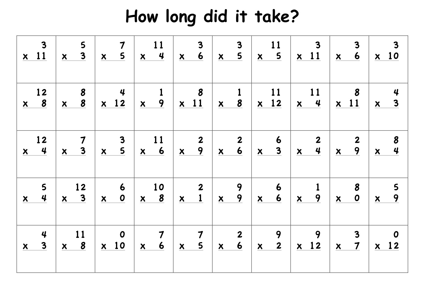 16 Best Images Of Free Double Digit Multiplication