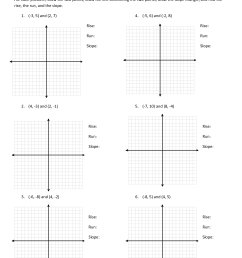 Find Slope From Two Points Worksheet   Printable Worksheets and Activities  for Teachers [ 1650 x 1275 Pixel ]