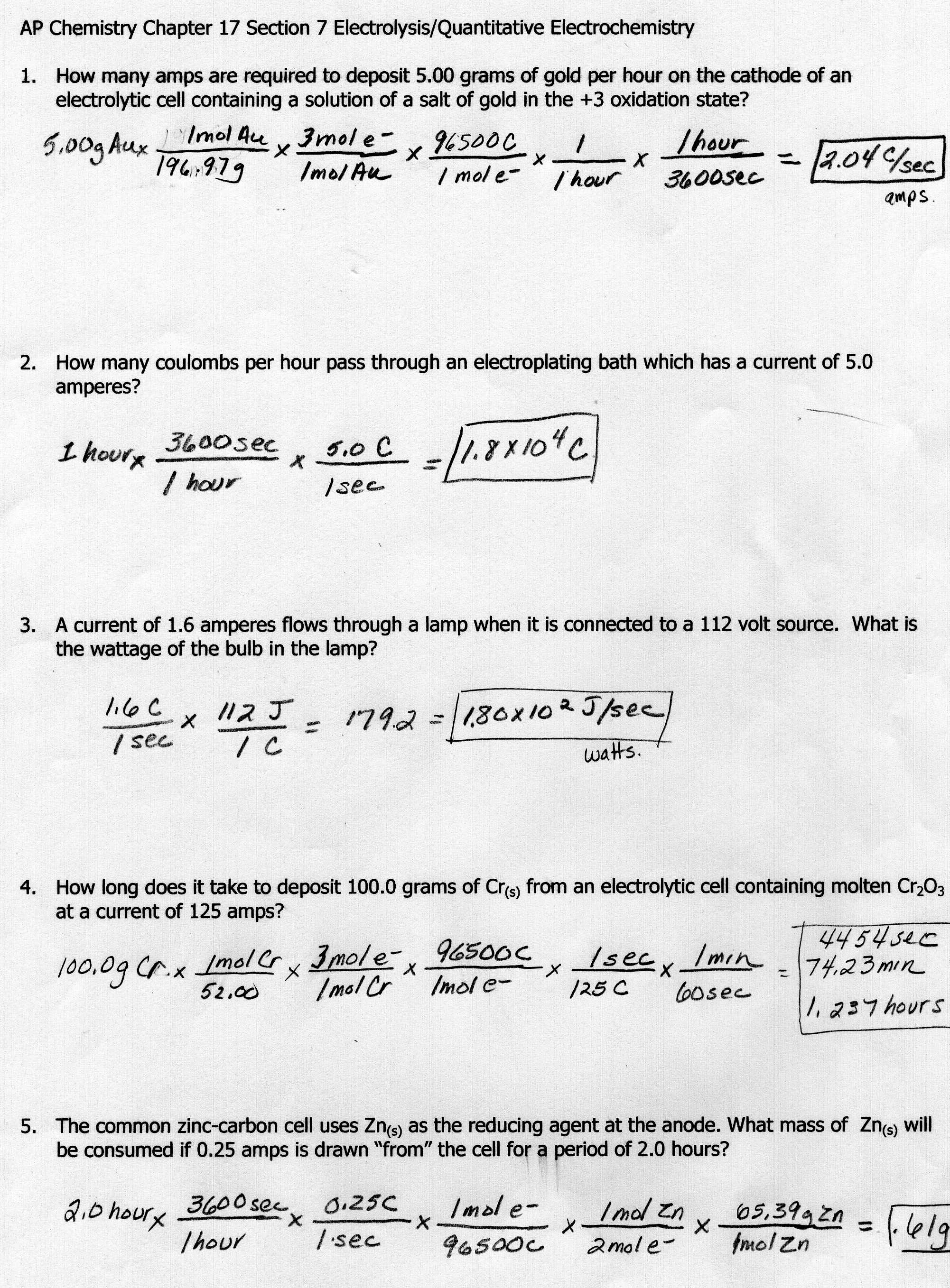 5 Best Images Of Electrical Energy Worksheet