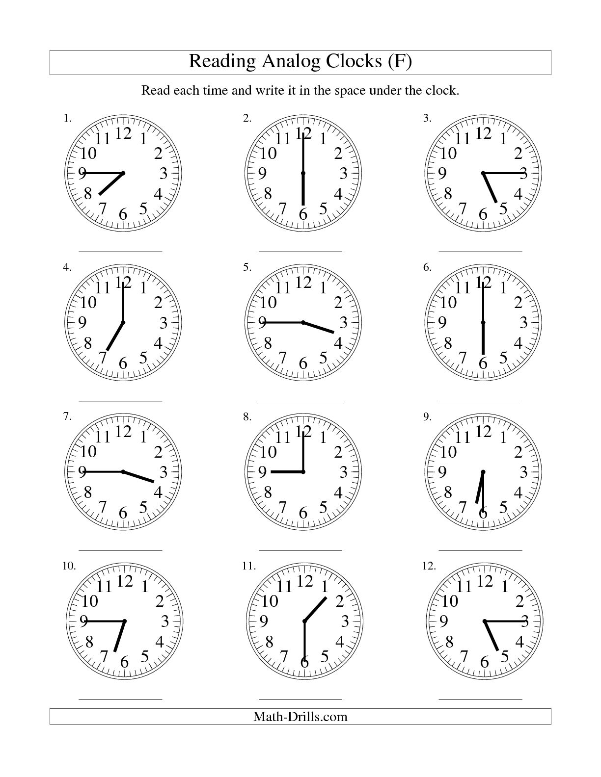 Time Worksheet Images