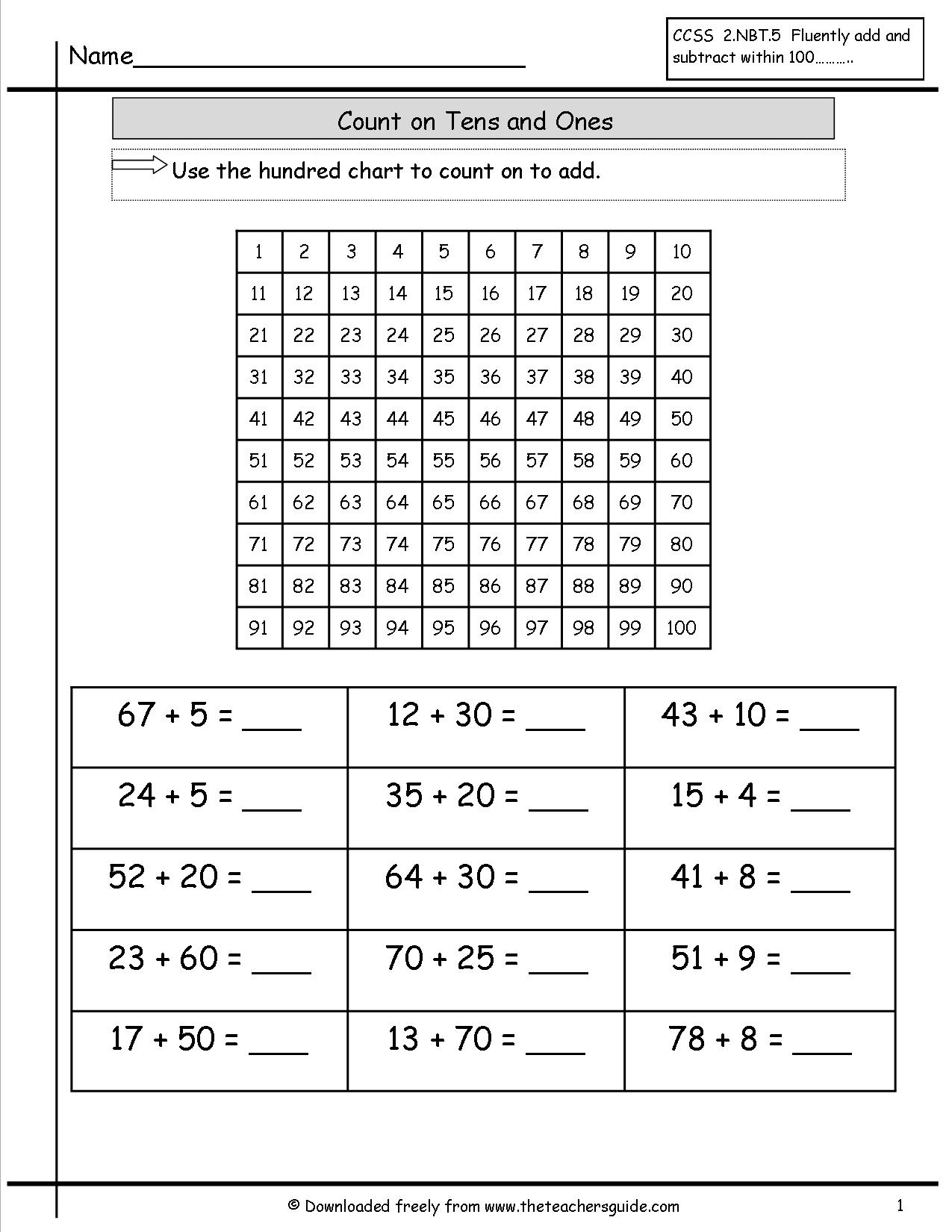 15 Best Images Of Adding Hundreds Worksheets