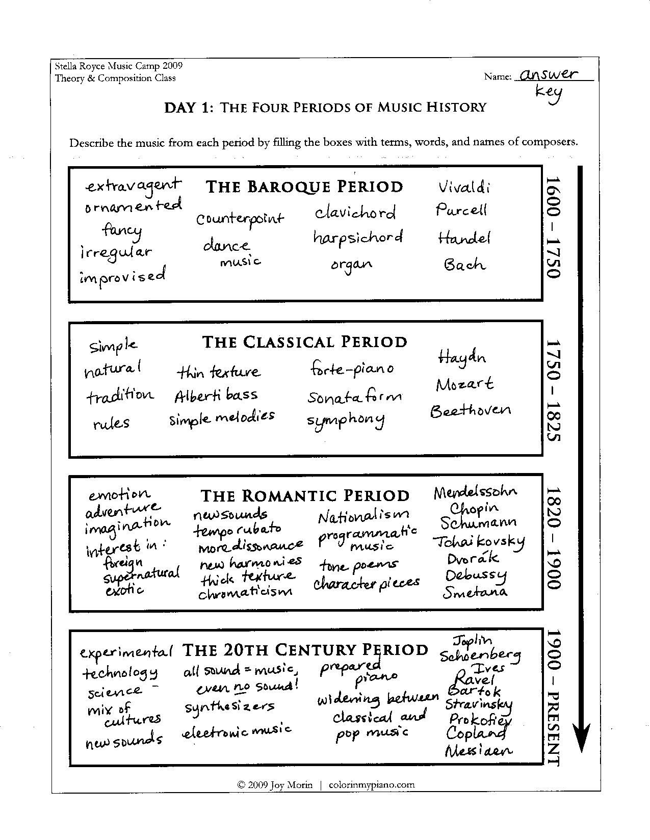 History Worksheet Category Page 1