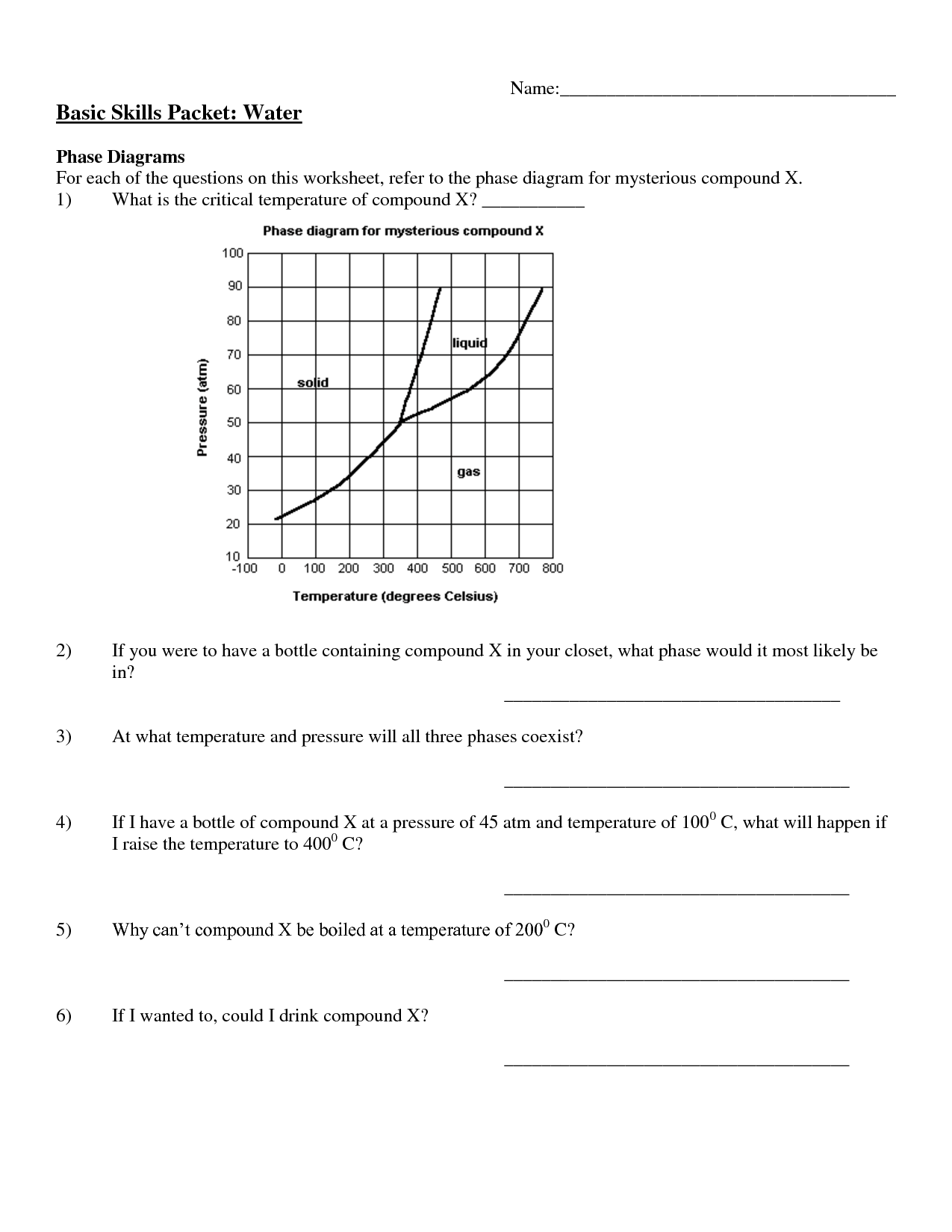 Phase Change Of Water Worksheet Phase Change Diagram Worksheet The Best And Most Comprehensive