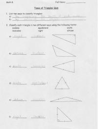 13 Best Images of Types Of Triangles Worksheet ...
