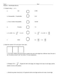 18 Best Images of 5th Grade Review Worksheets - Free ...