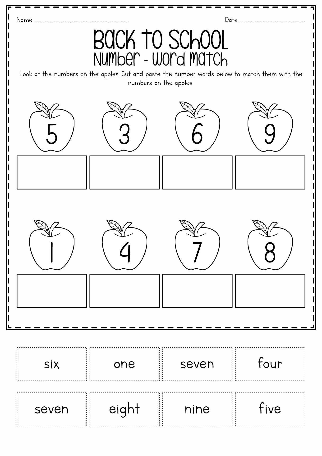 17 Best Images of Back To School Worksheets For