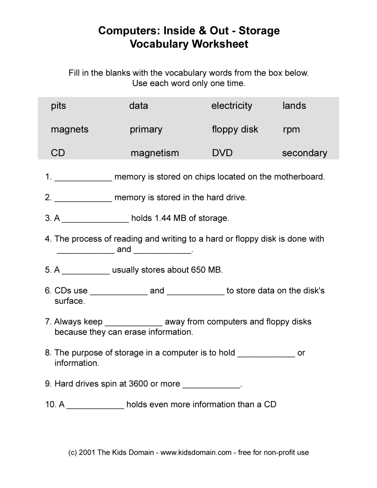 14 Best Images Of Career Vocabulary Printable Worksheets