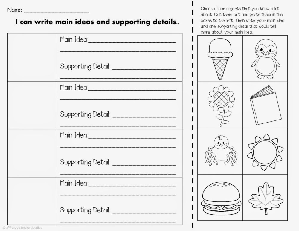 medium resolution of Main Idea Worksheets 2nd Grade   Printable Worksheets and Activities for  Teachers
