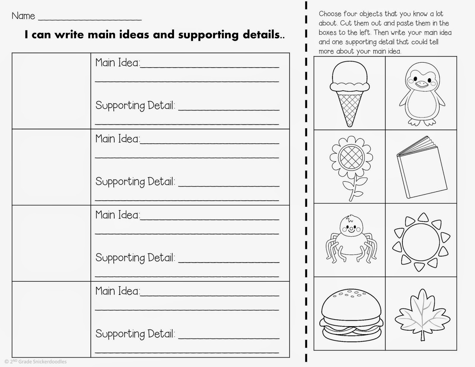 hight resolution of Main Idea Worksheets 2nd Grade   Printable Worksheets and Activities for  Teachers