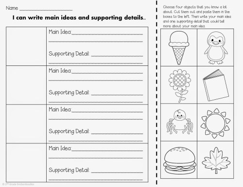 small resolution of Main Idea Worksheets 2nd Grade   Printable Worksheets and Activities for  Teachers
