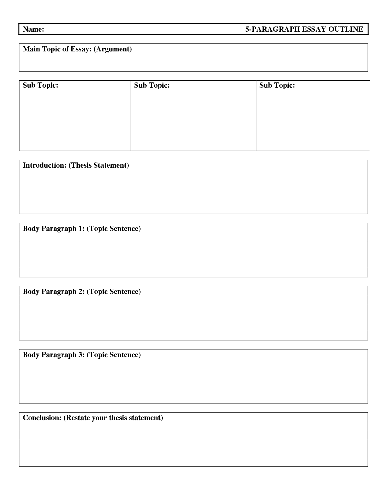 15 Best Images Of Essay Writing Worksheets Printable