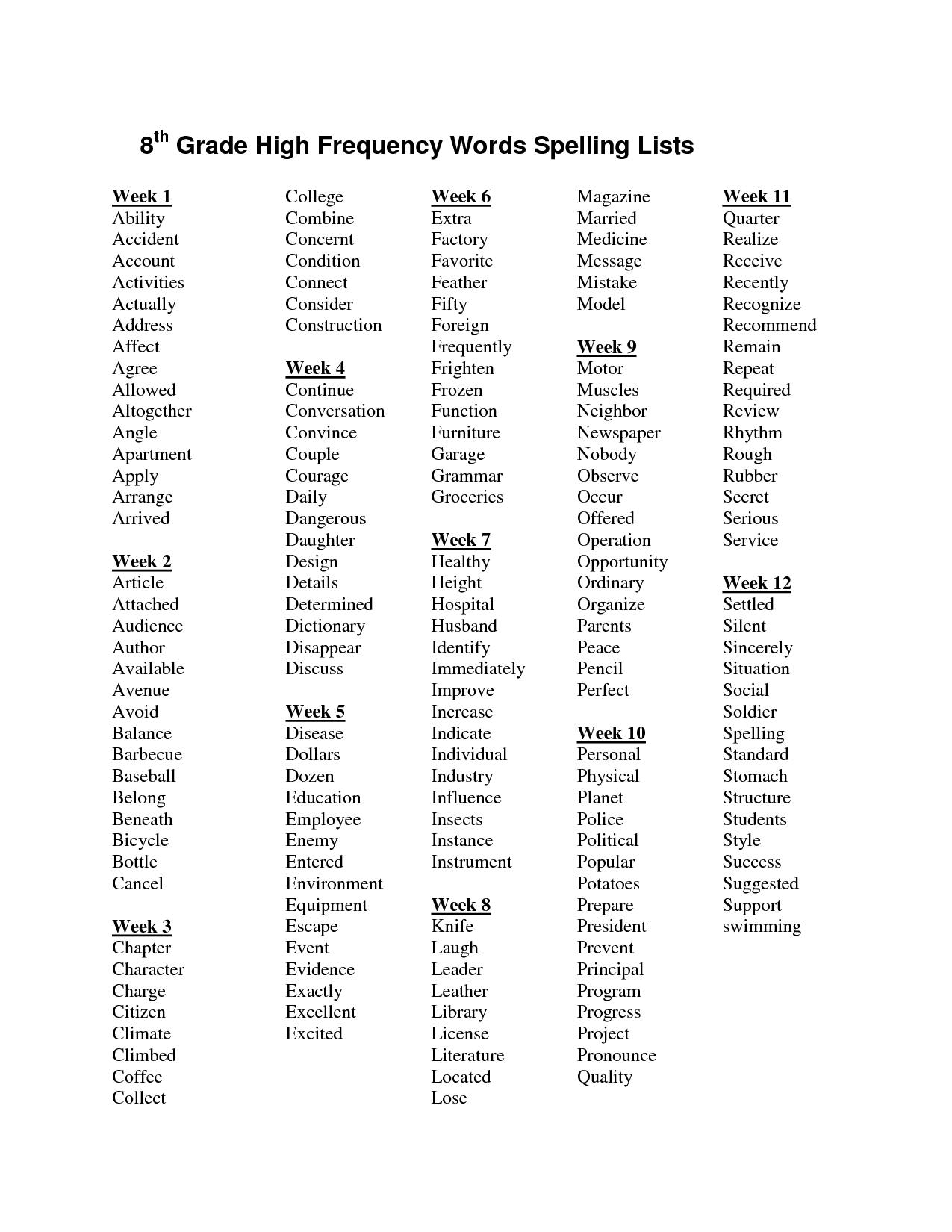 14 Best Images Of 4th Grade Worksheets Spelling Words