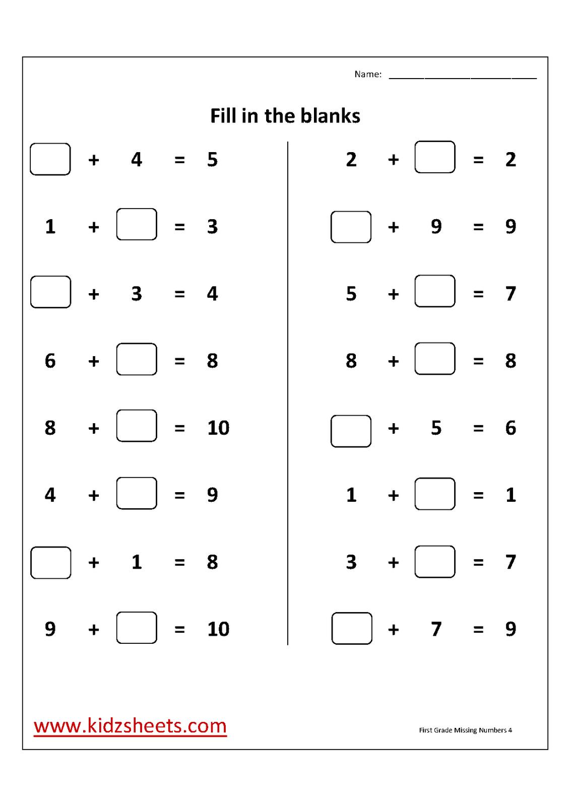 15 Best Images Of Missing Part Subtraction Worksheets