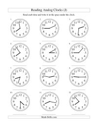 15 Best Images of Telling Time Worksheets By 5 Minutes ...