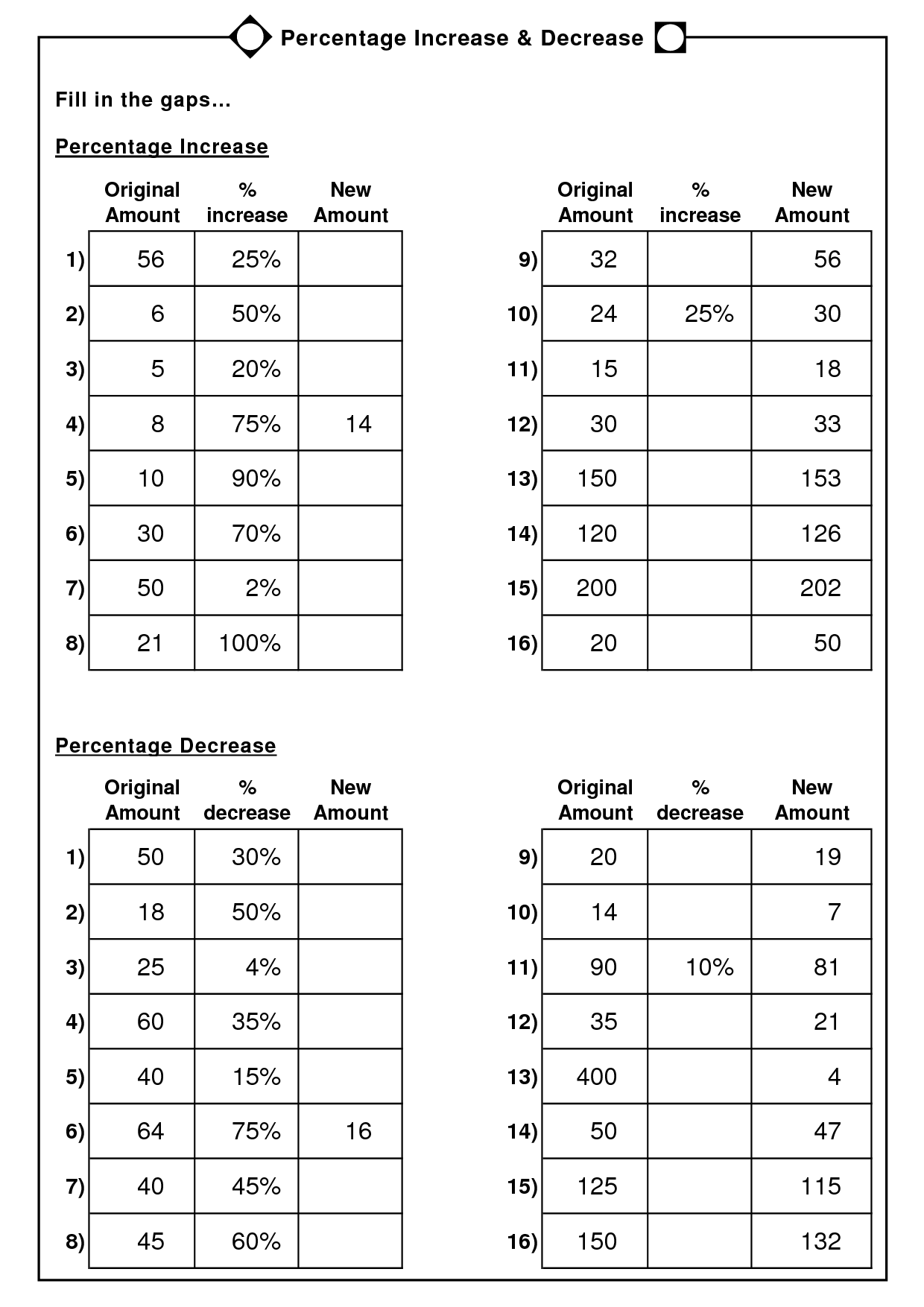 7 Best Images Of Percentages Word Problems Worksheets 6th