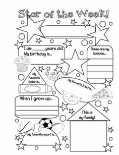 18 Best Images of Student Of The Week Preschool Worksheets