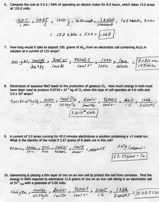 Worksheet On Stoichiometry