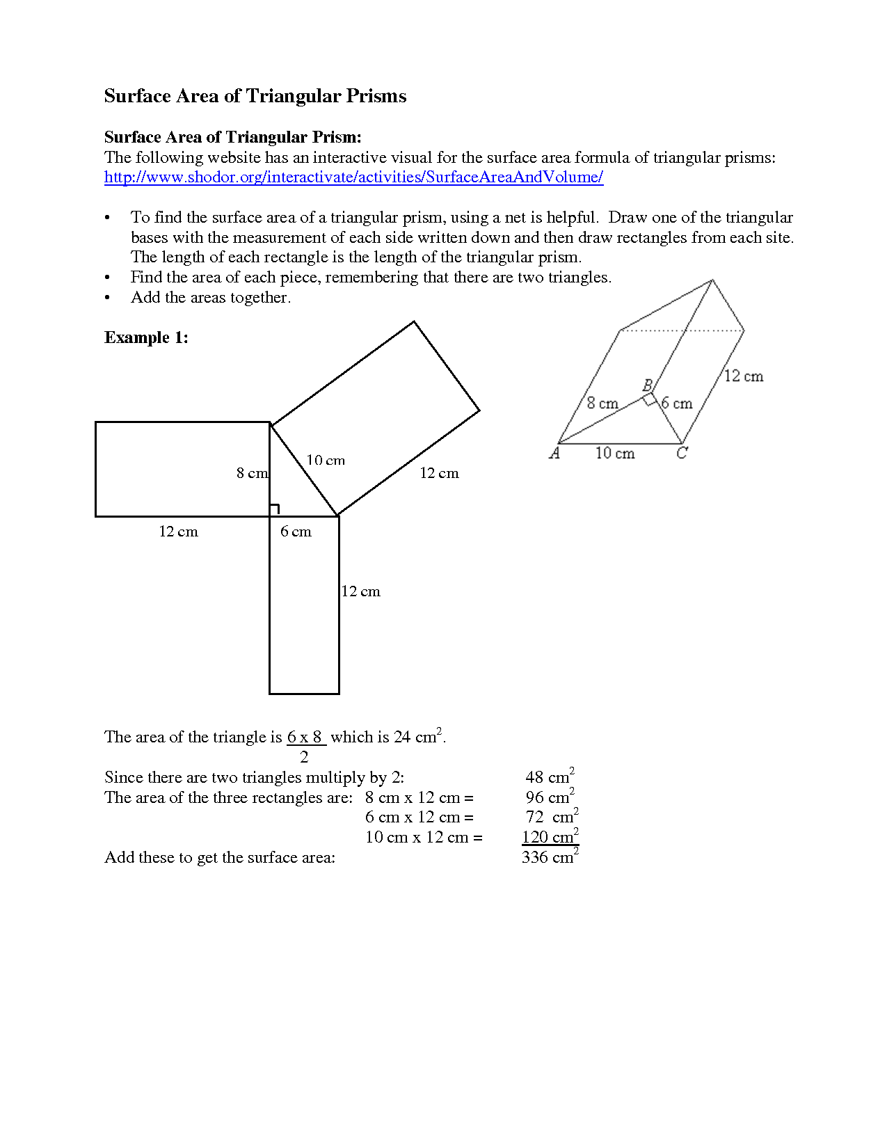 11 Best Images Of Surface Area Rectangular Prism Net Worksheet