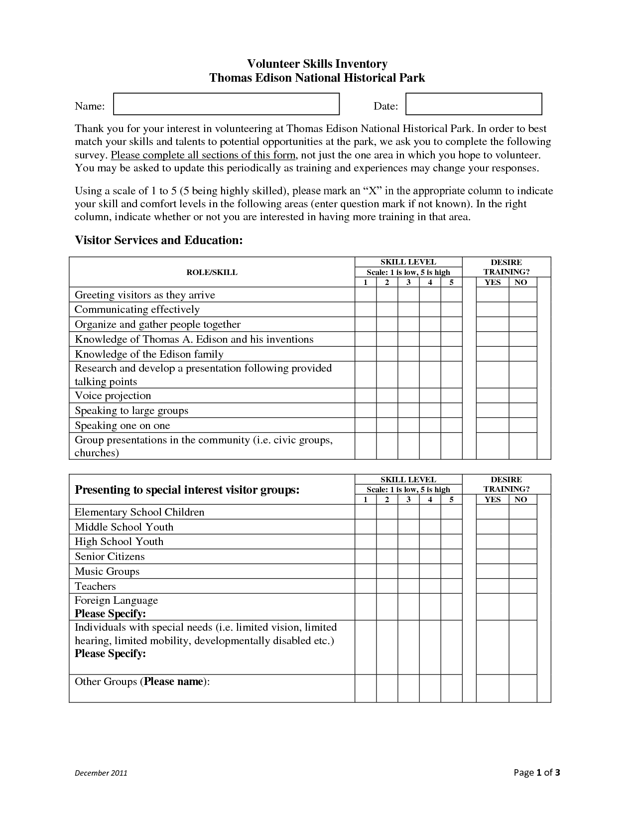 29 Transferable Skills Assessment Worksheet