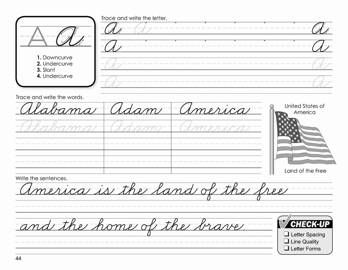 Animals Cursive Worksheet
