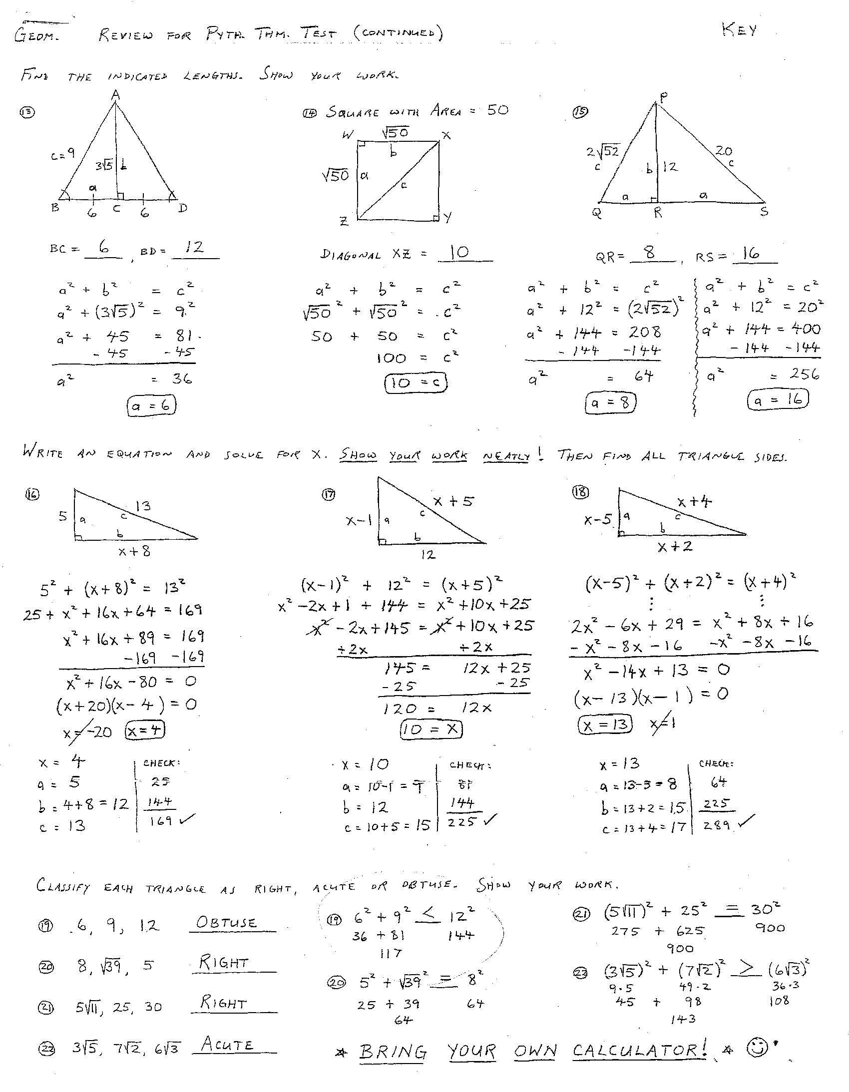 Geometry Congruent Triangles Worksheet