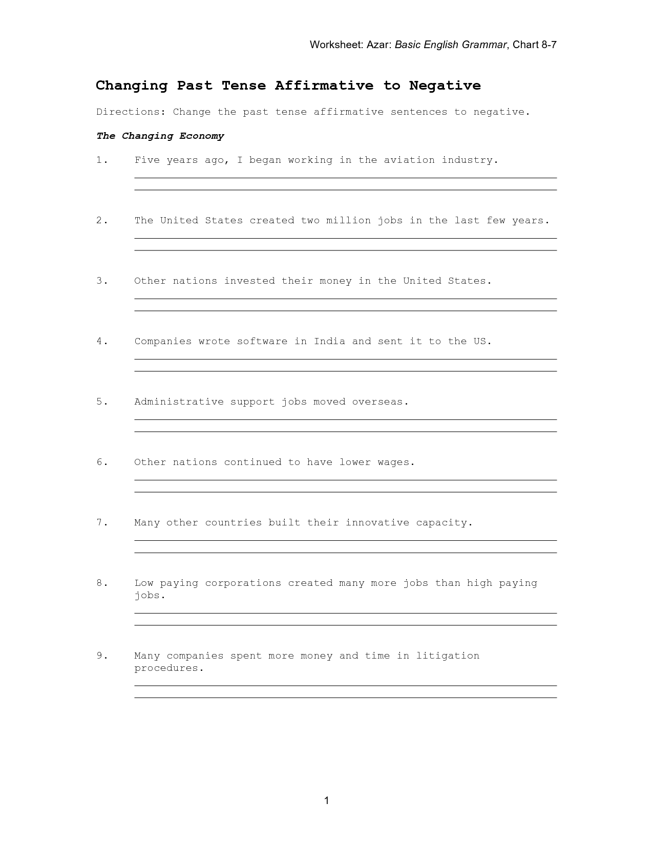 19 Best Images Of Punctuation Worksheets For Adults