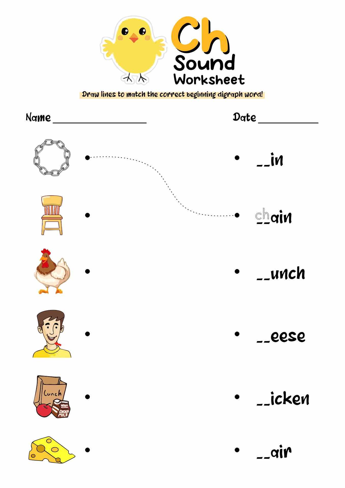 16 Best Images of CH Digraph Worksheets For Kindergarten