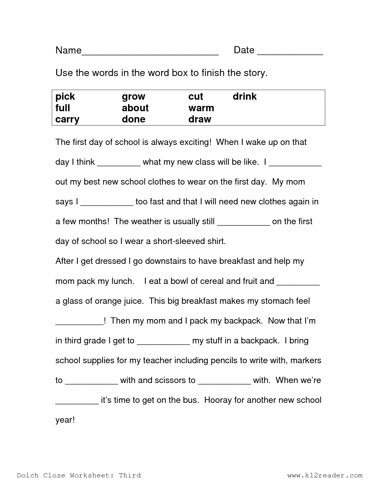 16 Best Images Of Sentence Comprehension Worksheets