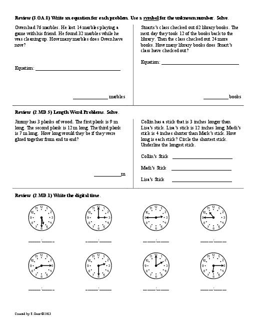 17 Best Images of First Grade Common Core Math Worksheets