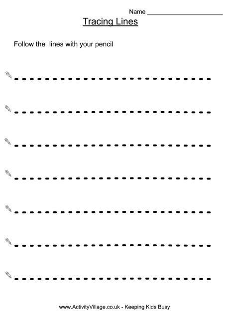8 Best Images of Vertical Line Tracing Worksheets