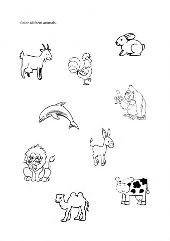 18 Best Images of Sort Animals Worksheet For Preschoolers