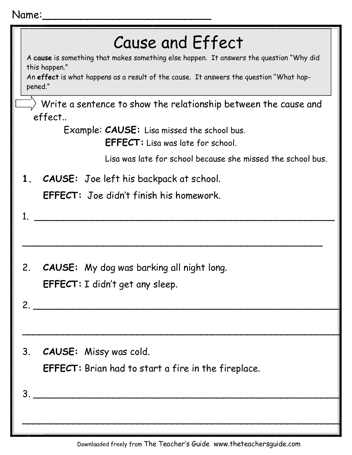 15 Best Images Of Cause Effect Reading Comprehension