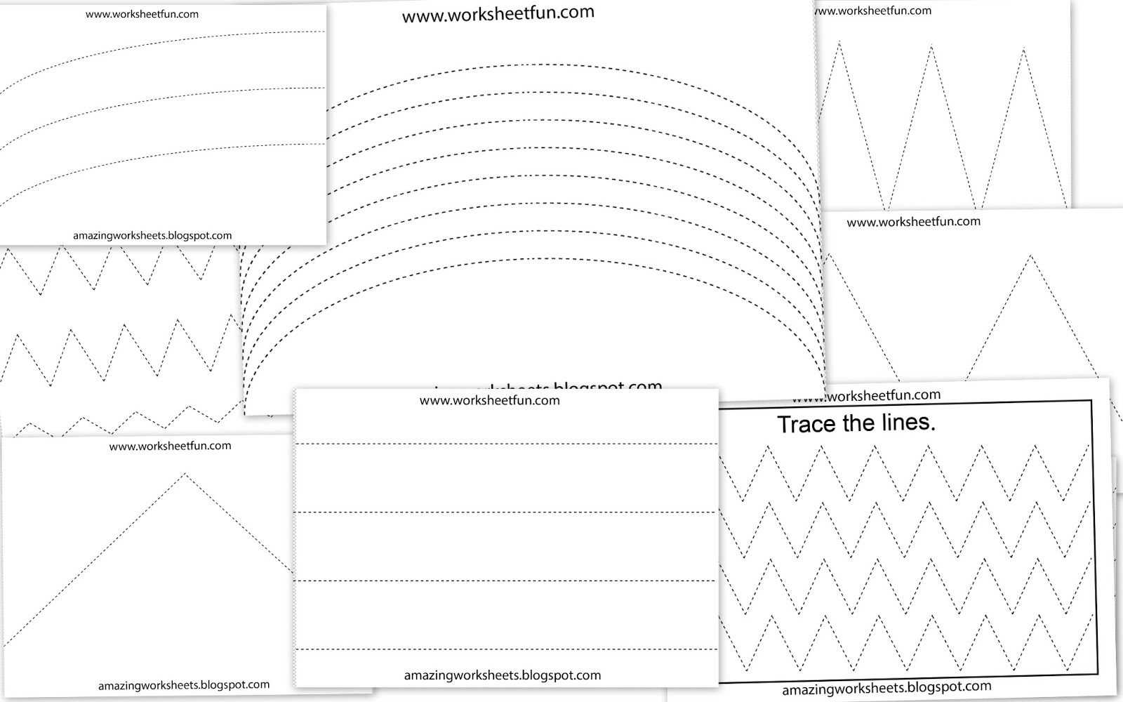 14 Best Images Of Preschool Shapes Worksheets Tracing Lines