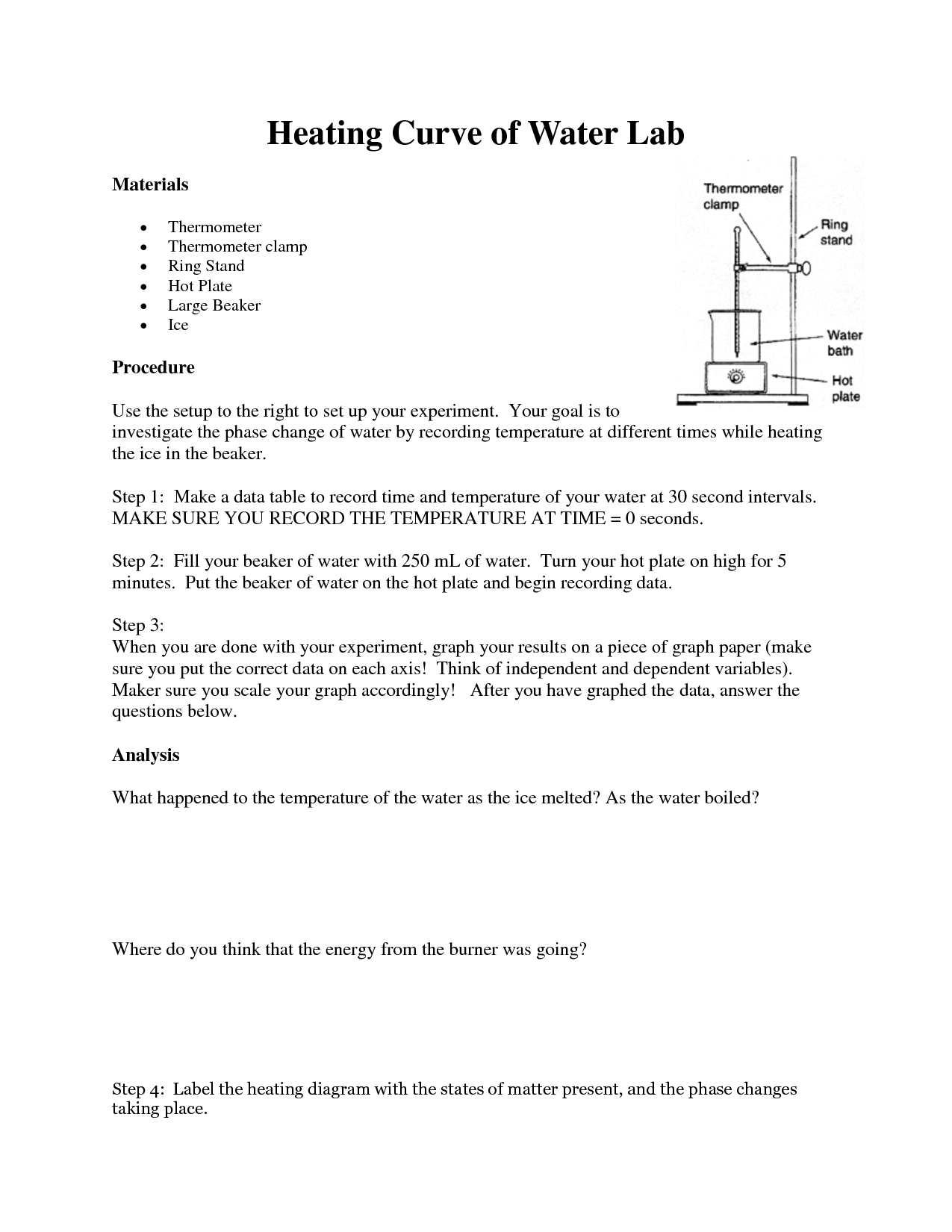 Thermal Energy And Heat Worksheet
