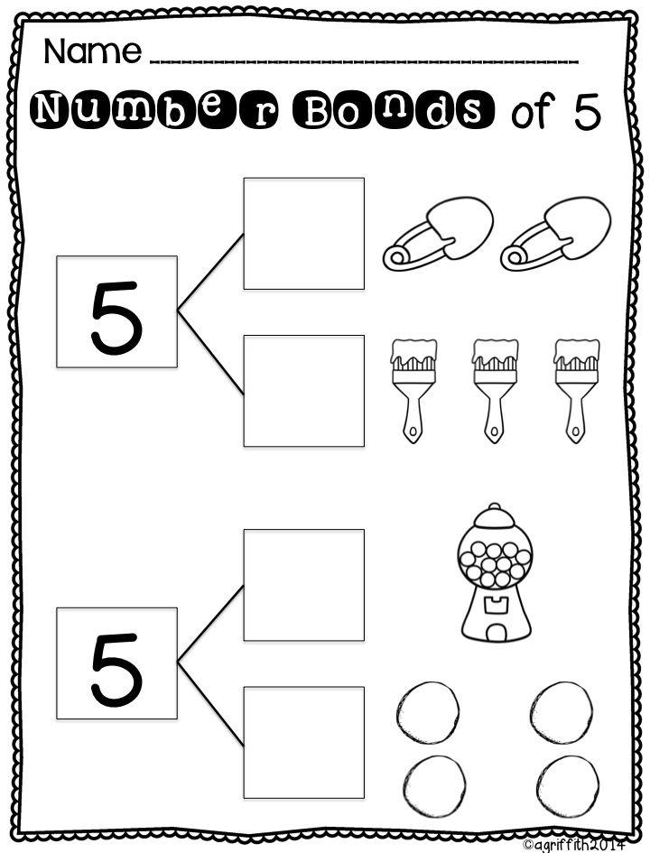 18 Best Images of Number Bond Worksheets For Kindergarten