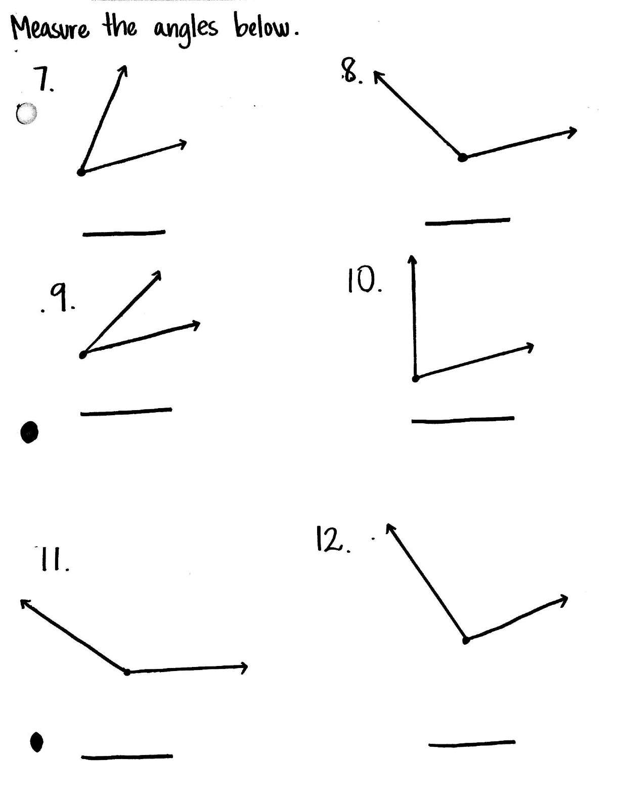 10 Best Images Of Angles Worksheets Grade 6